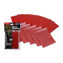 BCW Deck Guard Double Matte Sleeves - Red