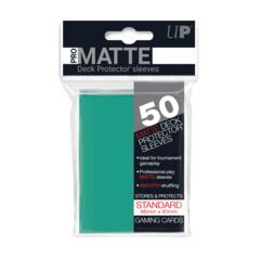 Ultra PRO 50 Count Pack Standard PRO-Matte Deck Protectors - Aqua