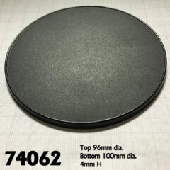 Reaper Base Boss: 100mm Round Gaming Base - Each