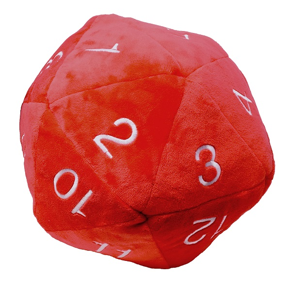 Ultra Pro - Jumbo D20 Novelty Dice Plush in Red with White Numbering
