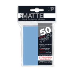 Ultra PRO 50 Count Pack Standard PRO-Matte Deck Protectors - Light Blue