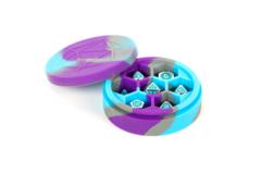 MDG Silicone Round Dice Case - Purple/Gray/Light Blue