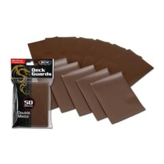 BCW Deck Guard Double Matte Sleeves - Brown