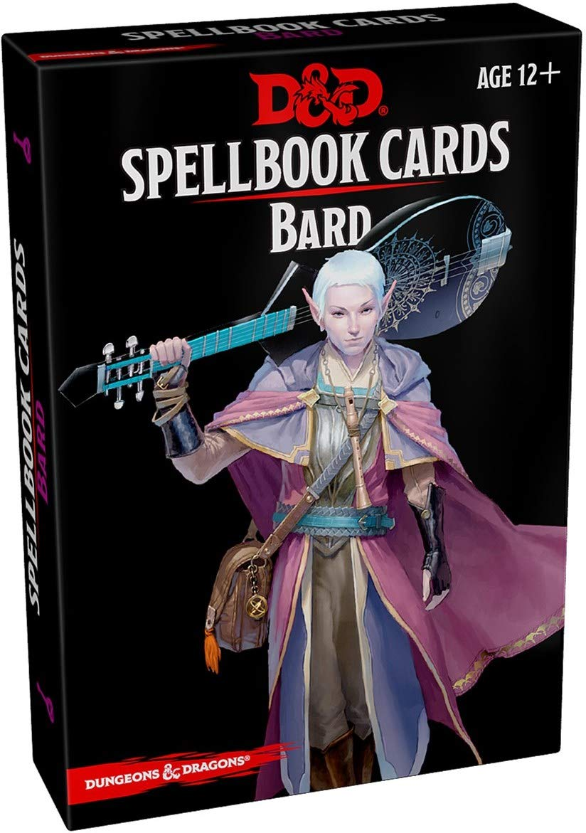 Dungeons and Dragons 5th Edition RPG: Spellbook Cards - Bard