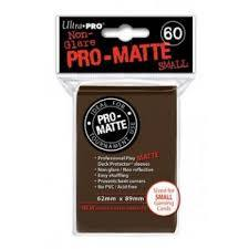 60ct Pro-Matte Brown Small Size Deck Protectors