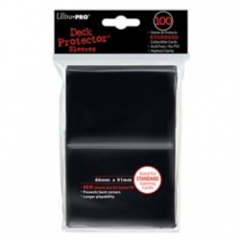 100ct Black Standard Deck Protectors
