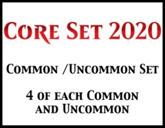 Core Set 2020 Common/Uncommon Set (4 of each)