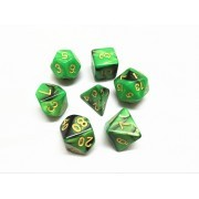 (Green+Black) Blend  Dice  Set  7pcs