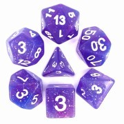 (Blue + Purple) Galaxy Dice Set  7pcs