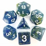 (Blue + Yellow) Galaxy Dice Set  7pcs
