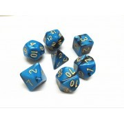 (Blue+black) Blend  Dice  Set  7pcs