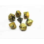 (Black+yellow) Blend  Dice  Set  7pcs