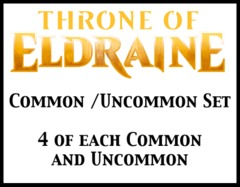 Throne of Eldraine Common/Uncommon Set (4 of each) (Ships Oct. 4th)