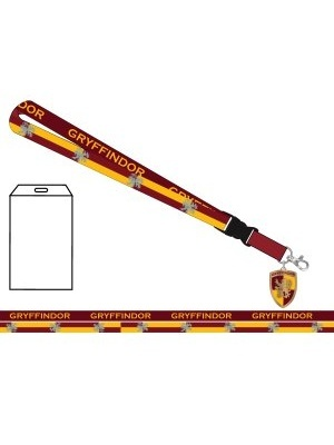 HARRY POTTER - GRYFFINDOR SCHOOL LANYARD