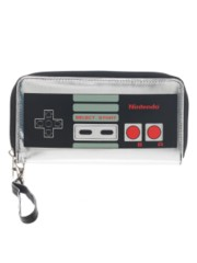 NINTENDO- CONTROLLER - Large Zip Around Wallet
