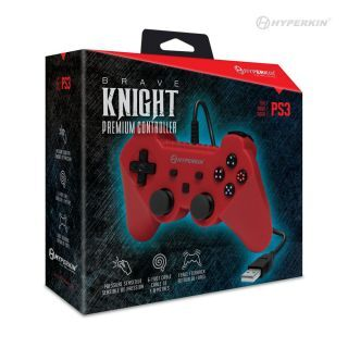 Skip to the beginning of the images gallery Brave Knight Premium Controller For PS3®/ PC/ Mac® (Red) - Hyperkin