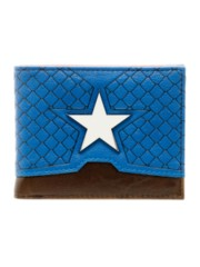MARVEL - CAPTAIN AMERICA - Layered Material Bi-Fold Wallet Red Blue