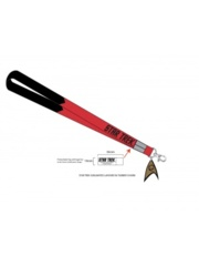 STAR TREK- LANYARD WITH CHARM RED