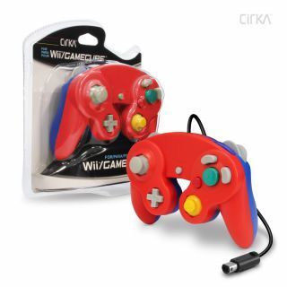 Wired Controller For Wii®/ GameCube® (Red/ Blue) - CirKa