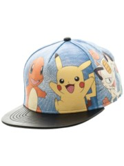 POKEMON - MULTI CHARACTER ALLOVER PU SNAPBACK