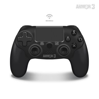 Wireless Game Controller For PS4/ PC/ Mac (Black) - Armor3