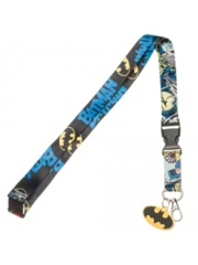 BATMAN - COMIC STRIP LANYARD WITH CHARM