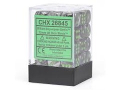 Chessex 36ct 12mm D6 - GY/GR