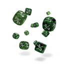 Oakie Doakie Dice - D6 Marble/Gemidice Positive & Negative Green 12mm Set of 14