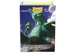 Dragon Shield Sleeves: Art Matte Dragon of Liberty (100 Standard Size)