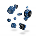 Oakie Doakie Dice - D6 Marble/Gemidice Positive & Negative Blue 12mm Set of 14