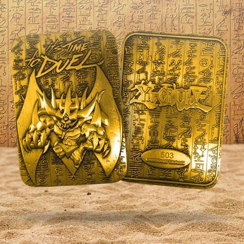 Yu-Gi-Oh! Limited Edition 24 Karat Gold Plated Obelisk The Tormentor