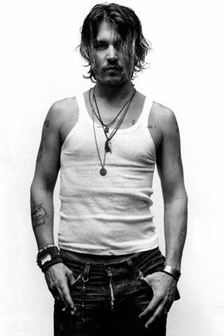 Or Pos 154- Johnny Depp B&W