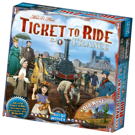 Ticket to Ride: France/Old West Map Expansion