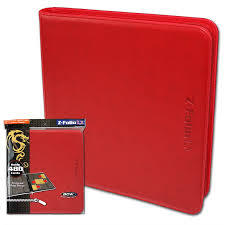 Zipper Folio 12-Pocket - LX -Red