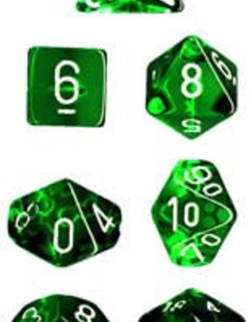 Chessex - 23075 - Translucent Green/White
