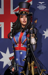 Van Helsing Vs League Of Monsters #1 Cover L Paul Green Australian Wildfire Relief Exclusive LTD 250