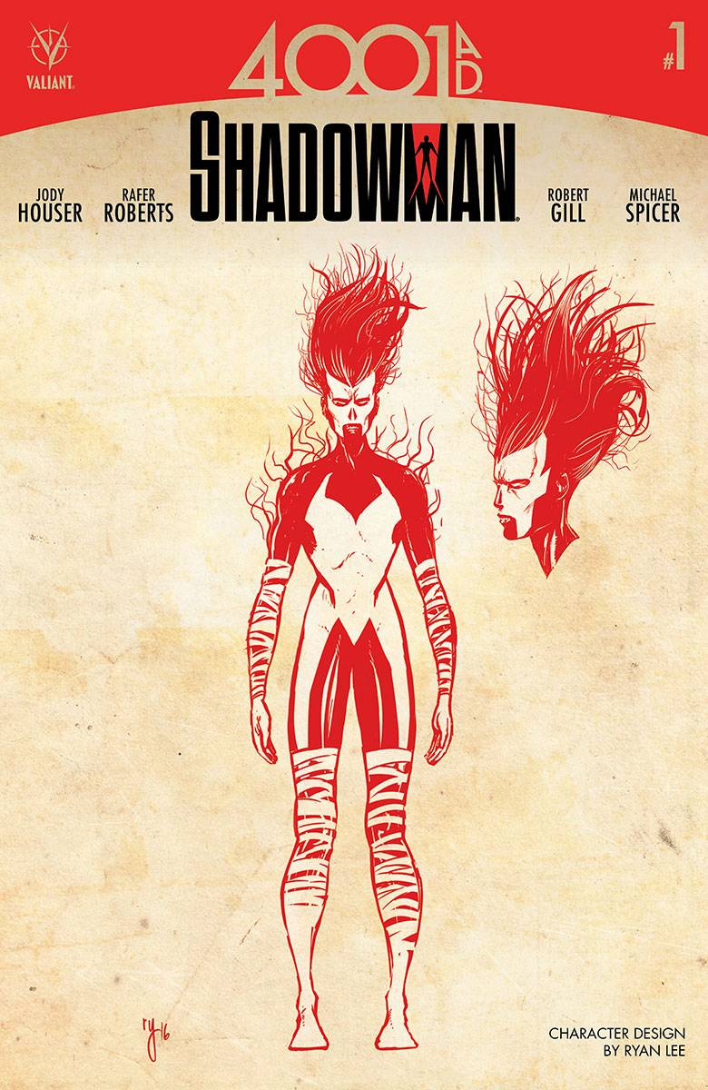 4001 AD Shadowman #1 Cover C 1:10 Variant Char Dsn Lee