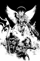 Dark Nights Death Metal #1 (Of 6) Cover E Greg Capullo B/W Midnight Party Variant