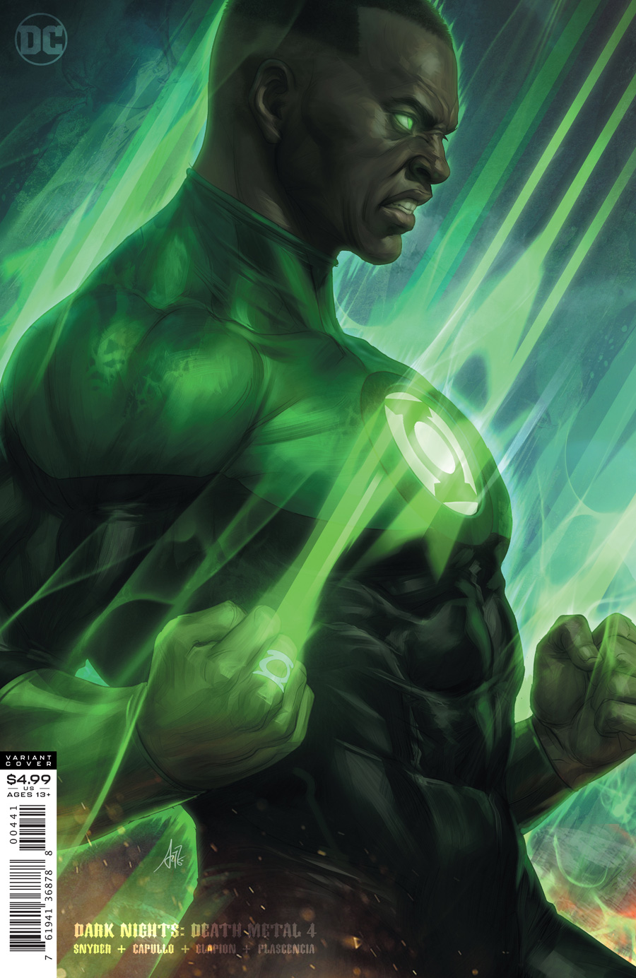Dark Nights Death Metal #4 (Of 7) Cover D Artgerm Green Lantern John Stewart Variant