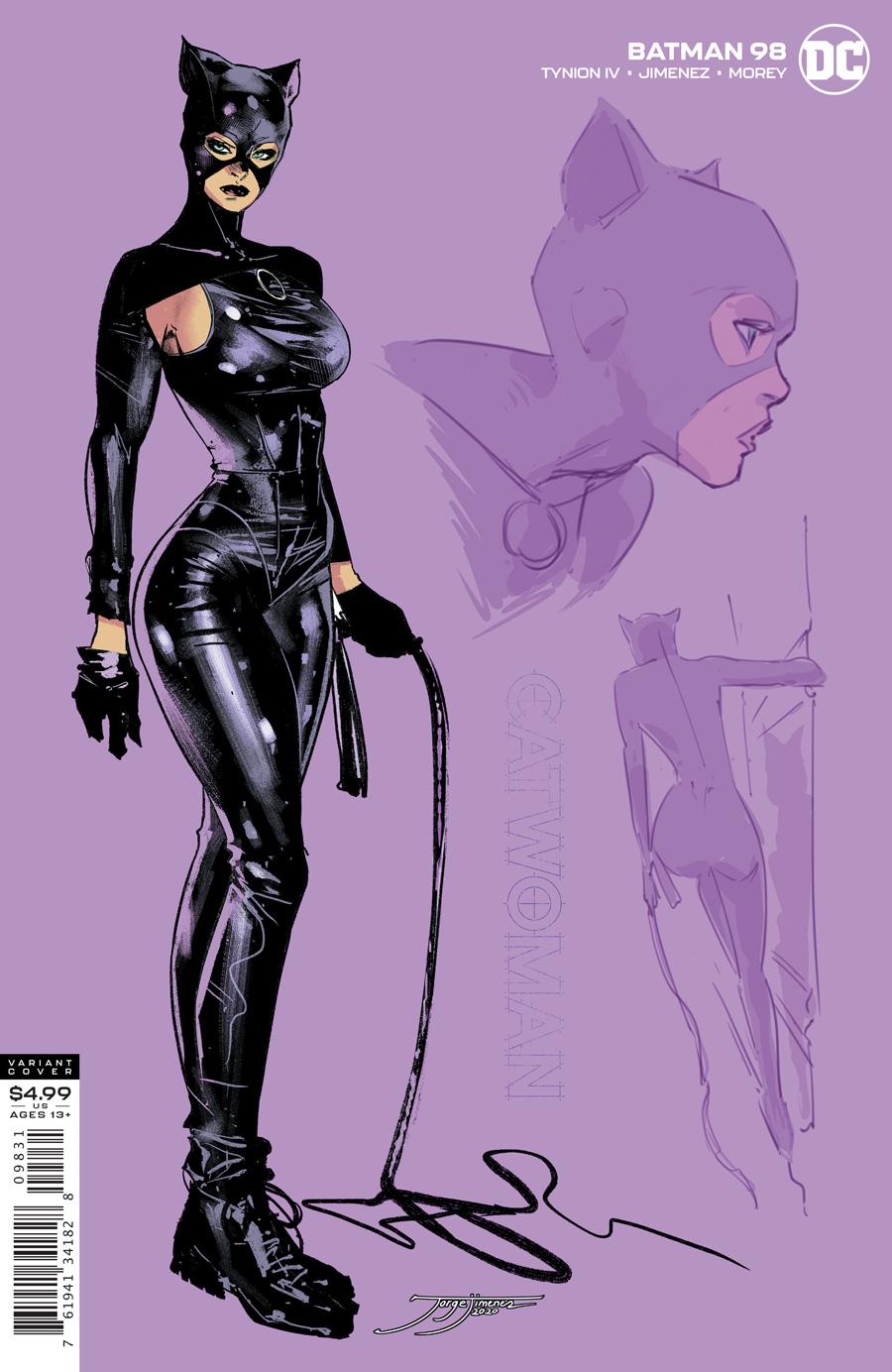 Batman Vol 3 #98 Cover C 1:25 Jorge Jimenez Catwoman Variant