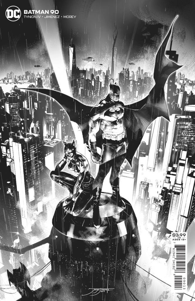 Batman Vol 3 #90 3rd Printing Jorge Jimenez B/W Variant