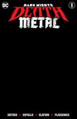 Dark Nights Death Metal #1 (Of 6) Cover F Black Blank Variant
