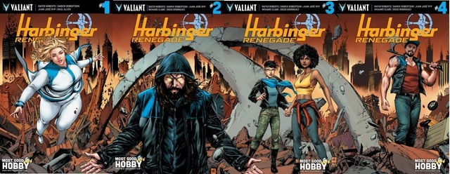 Harbinger Renegade Lot 1 2 3 4 MGH Exclusive Mike Krome Variant Set