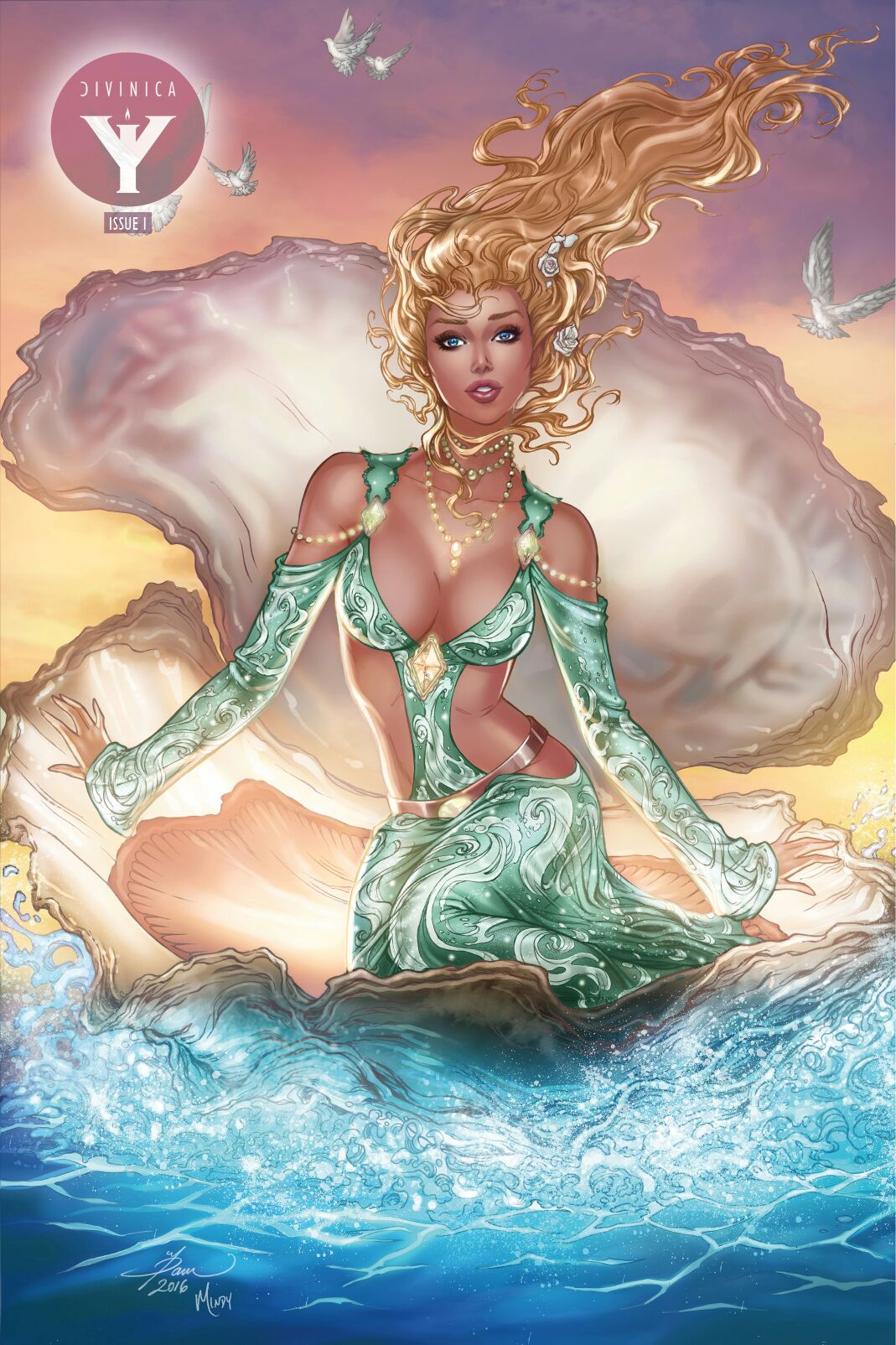 DiVinica #1 Most Good Exclusive Rothic Dawn McTeigue Green METAL Variant LTD 5