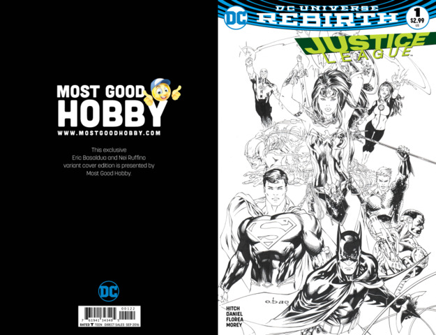 Justice League #1 MGH Exclusive EBAS Inked Variant (REBIRTH)