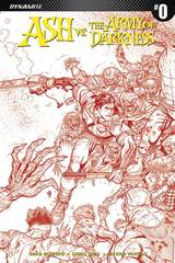 Ash Vs Aod #0 Cover E 1:40 Variant Bradshaw Blood Red Incv