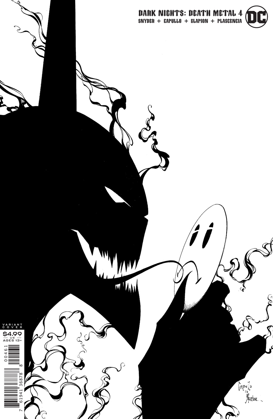 Dark Nights Death Metal #4 (Of 7) Cover F 1:100 Greg Capullo B/W Variant