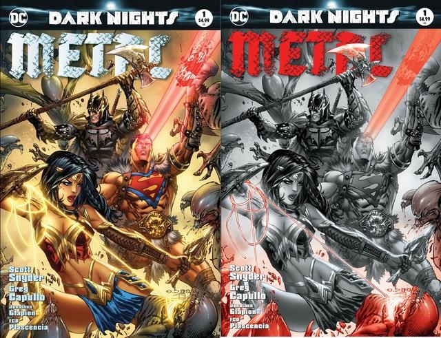 Dark Nights Metal #1 MGH Exclusive EBAS Color & B/W Variant Set