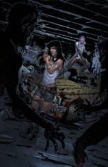 Aliens Vs Zombies #4 (Of 5) C Cover Cafaro