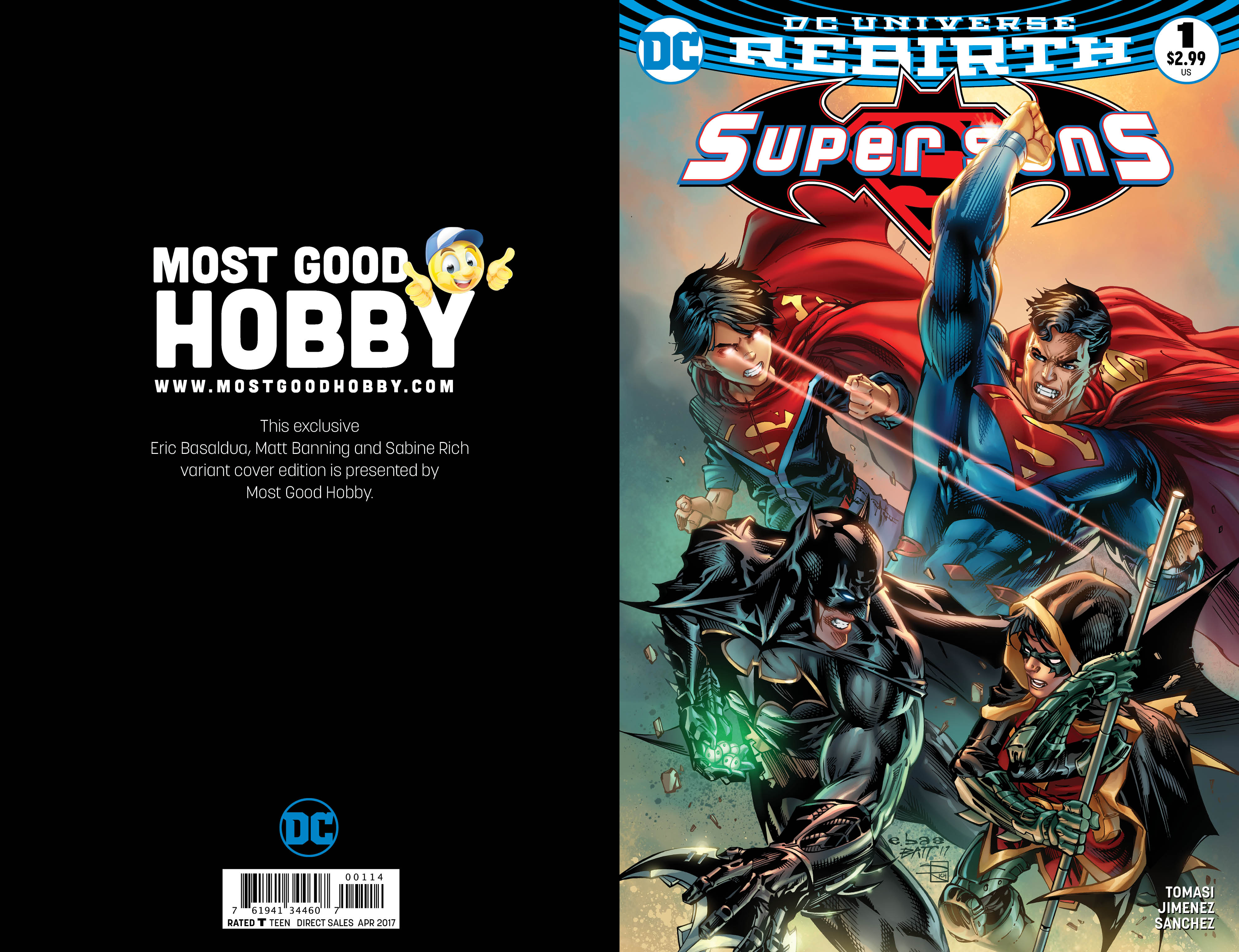 Super Sons #1 Most Good Exclusive EBAS Variant (REBIRTH)